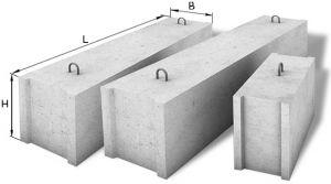 Бетонные блоки под фундамент